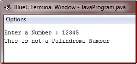 check palindrome in java