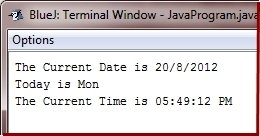 Java Program to print time date