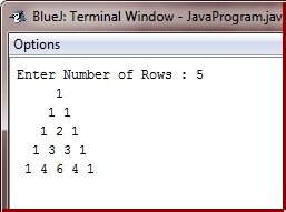 Java Program to Print Pascal Triangle