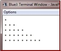 print pattern in Java Programming