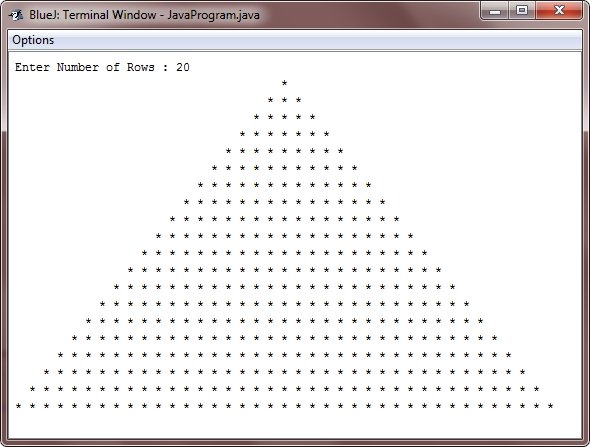 Java Program print star pyramid