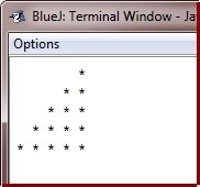 Java Program print star pattern