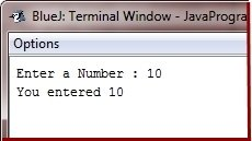 get integer input in java