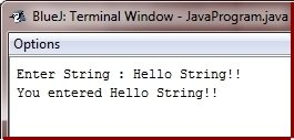 get string input in java