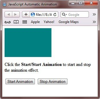 animation javascript example