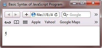 basic syntax of javascript program