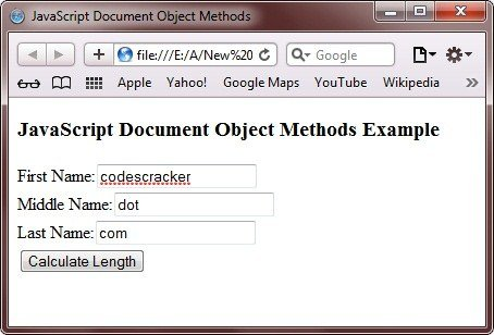 document object methods