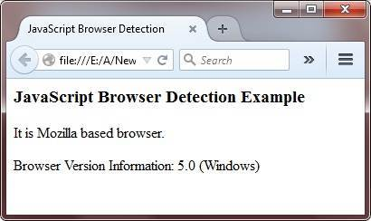 javascript browser detection