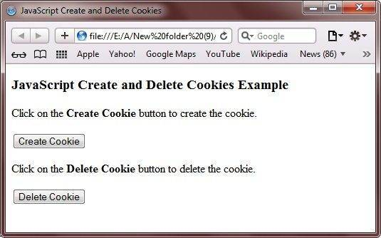 javascript create cookies
