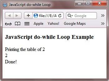 javascript do-while loop example