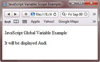 javascript global variable example