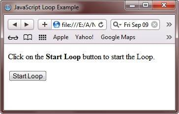 javascript loop example