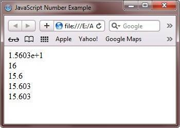 javascript number example