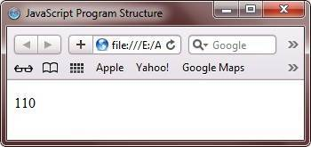 javascript program structure