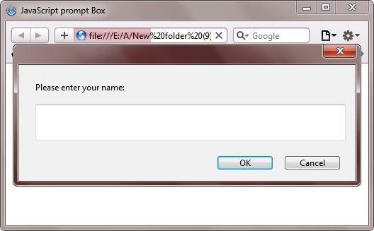 javascript prompt box