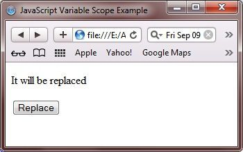 javascript variable scope example