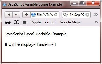 javascript variable scope
