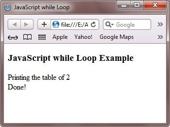 javascript while loop example