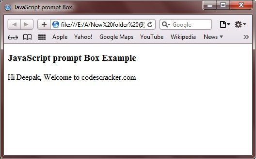 prompt box javascript
