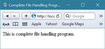 complete file handling program php