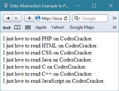 data abstraction example php