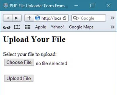 file uploading code php