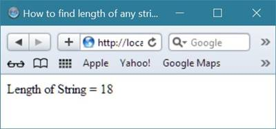 find length of string in php