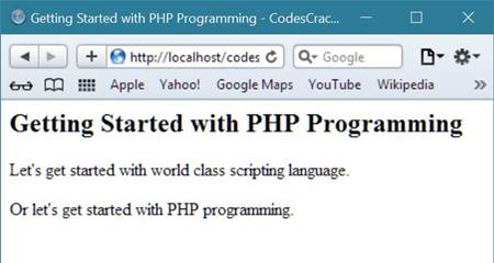 getting started with php programming