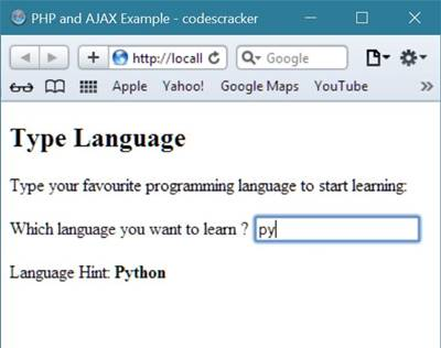 php ajax example