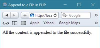 php append to file