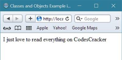 php class object example