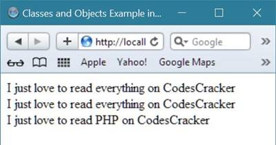 php classes objects