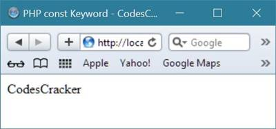 php const keyword