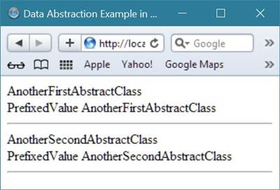 php data abstraction