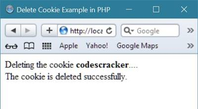 php delete cookie