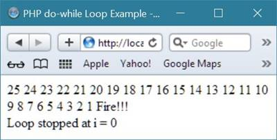 PHP do-while loop