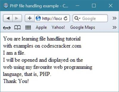 php file handling example