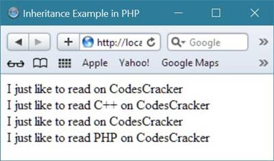 php inheritance