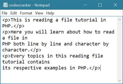 php read file