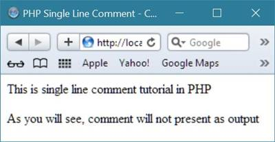 php single line comment