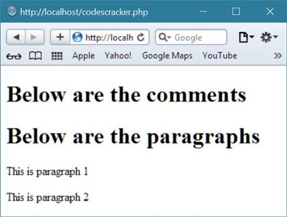 PHP Comments Example