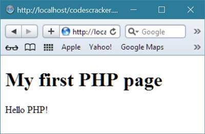 PHP first program