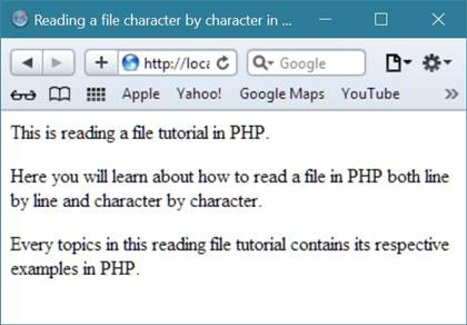 reading file character by character