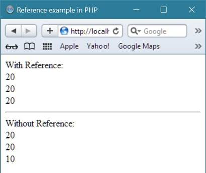 reference in php
