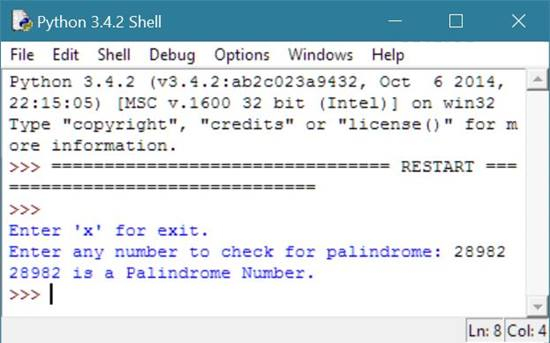check palindrome or not python