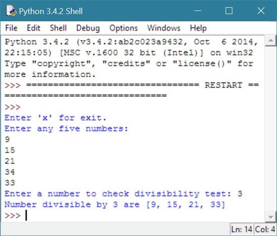 find all numbers divisible by number python