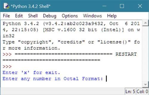 Python Program To Convert Octal To Binary