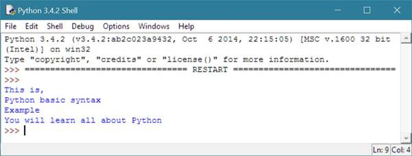 python basic syntax example