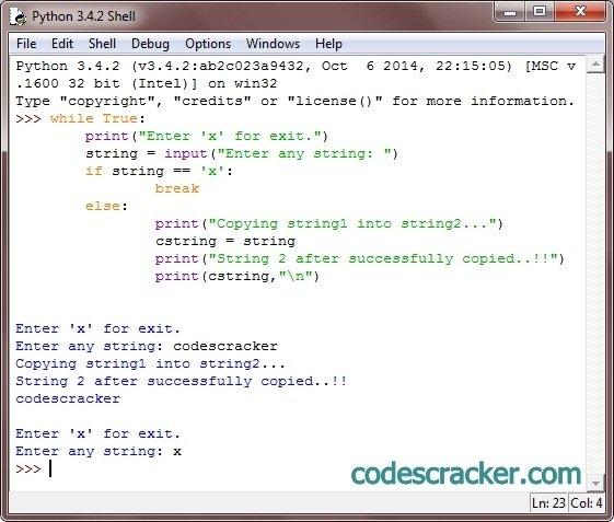 Python Program To Copy String