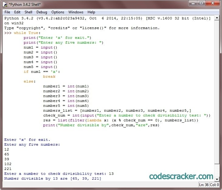 python find numbers divisible by another number